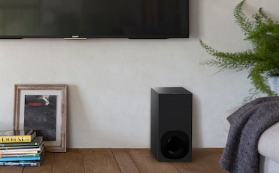 TV soundbar with wireless subwoofer