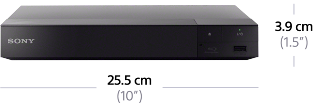 Dimensions of 4K Upscale Blu-ray Disc™ Player with Wi-Fi PRO
