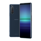 Xperia 5 II in blue, front and back