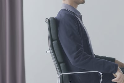 Man sitting in a chair
