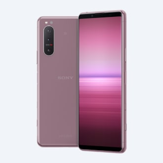 Xperia 5 II in pink, front and back
