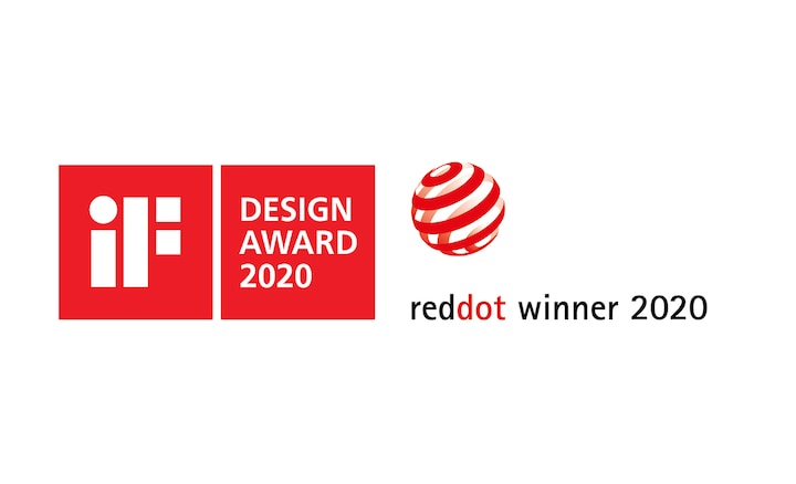 Logos for iF Design Award 2020 and Red Dot Winner 2020