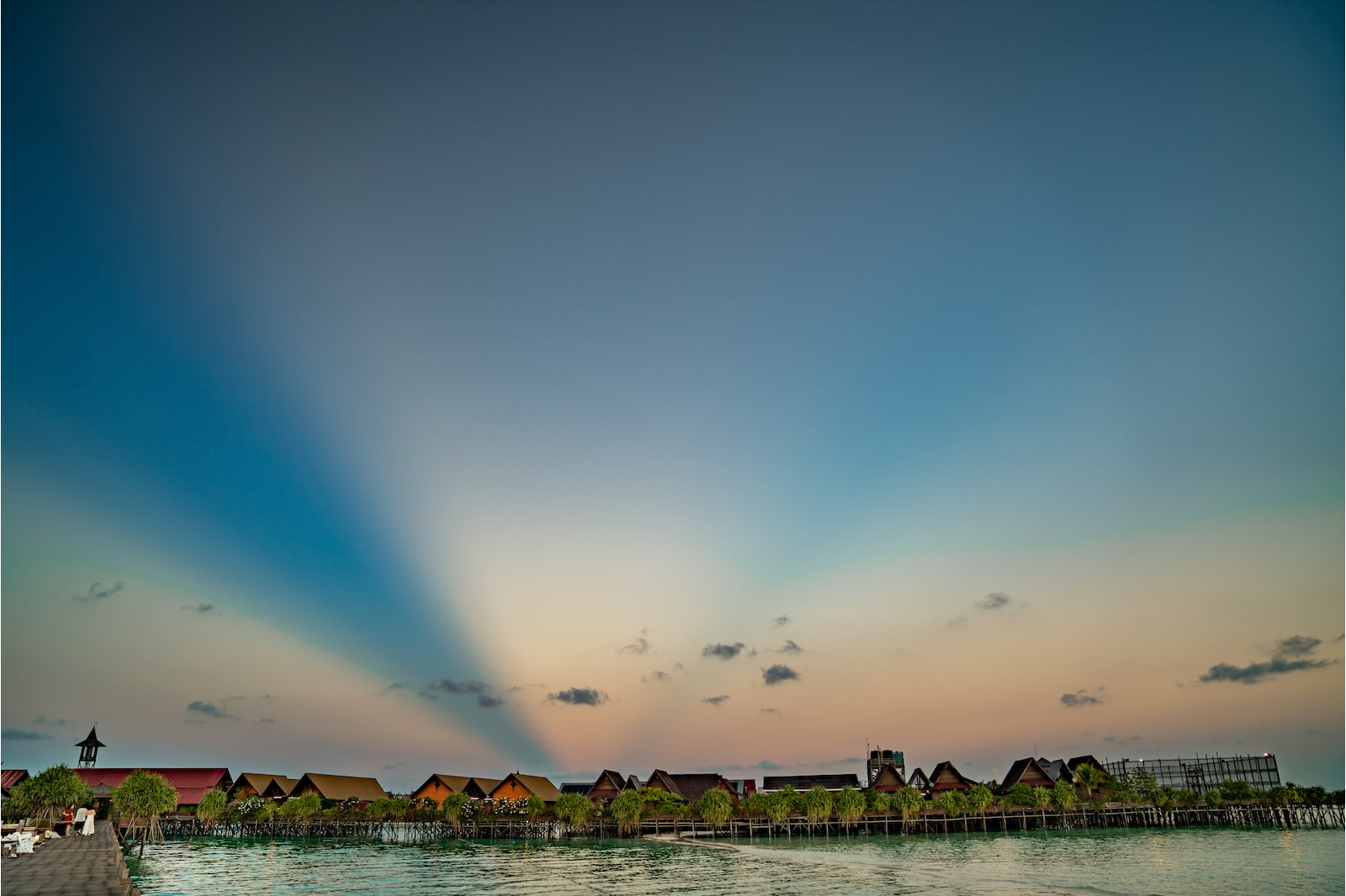 Gradient skies of Pulau Sipadan at evening