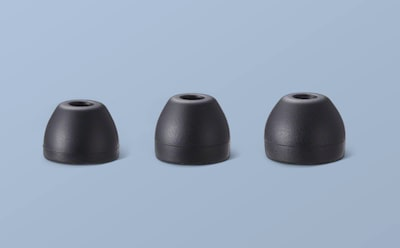 Three sizes of earbud