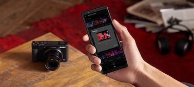 透過 Imaging Edge Mobile 隨時隨地將影片傳送到智慧型手機
