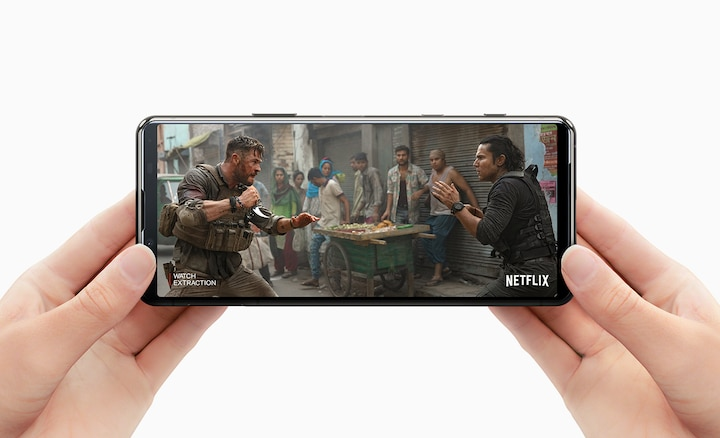 Watching Netflix on Xperia 5 II