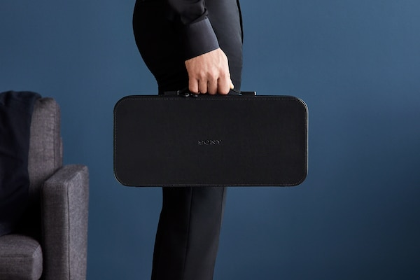The DMP-Z1's carrying case