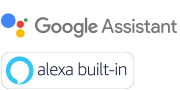 Google Assistant and Amazon Alexa logos