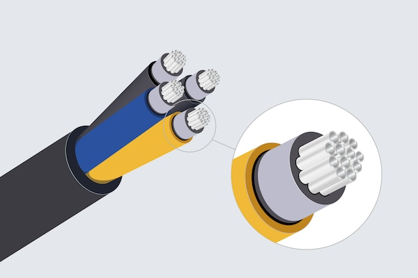 Illustration of balanced audio cable