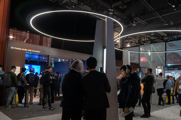 Image of CES Sony 360 Reality Audio Booth