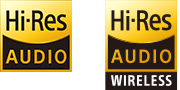 Hi-Res Audio & Hi-Res Audio wireless logos