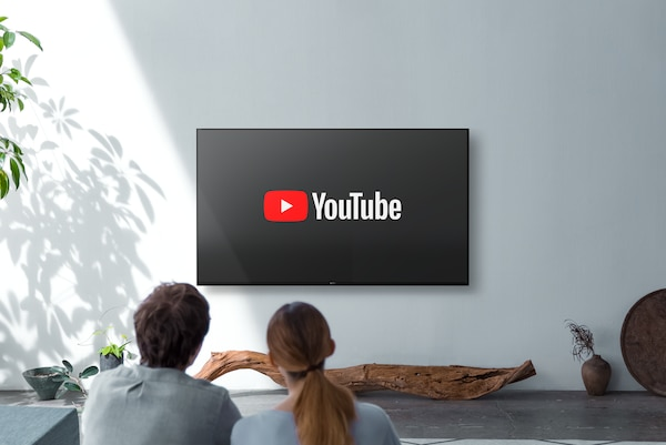YouTube on screen with remote