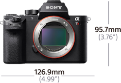 Picture of α7R II with back-illuminated 35 mm full-frame image sensor