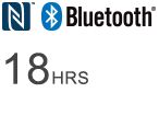 Bluetooth logo - 18HRS Wireless listening