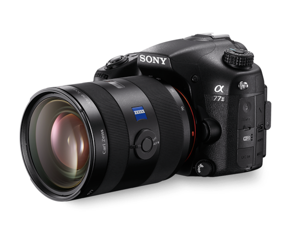 α77 II A-mount Camera with APS-C sensor and ZEISS® lens